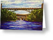Mcquesten High Level Bridge Hamilton On Greeting Card
