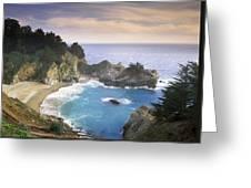 Mcway Cove Falls In Big Sur Greeting Card