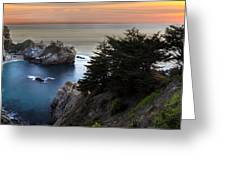 Mcway Falls Sunset Greeting Card