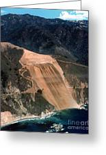 Aerial Of Mcway Landslide Big Sur California 1984 Greeting Card