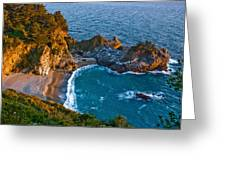 Mcway Waterfall. Big Sur Greeting Card