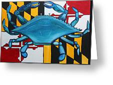 Md Blue Crab Greeting Card