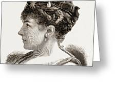 Mdme. Marie Roze, Of Her Majestys Opera Greeting Card