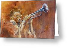 Me And My Trumpet Greeting Card