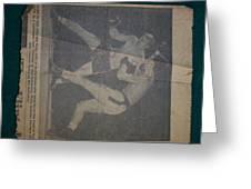 Me Fighting Bill Waits 1954 Greeting Card