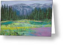 Meadow In The Cascades Greeting Card