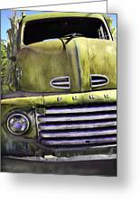 Mean Green Ford Truck Greeting Card