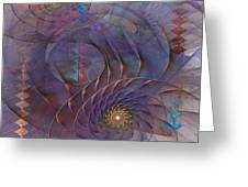 Meandering Acquiescence - Square Version Greeting Card