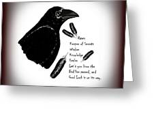Meaning Of Raven Greeting Card by Eva Thomas