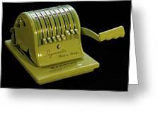 Mechanical Check Embosser Greeting Card
