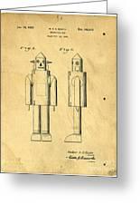 Mechanical Man Patent Greeting Card