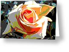 Medallion Rose Greeting Card