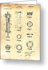 Medical Syringe Patent 1954 Greeting Card