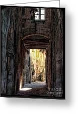Medieval Alley Greeting Card