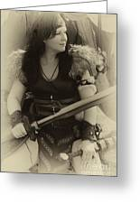 Medieval Barbarian Eriana Iceni 2 Greeting Card