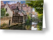 Medieval Bruges Greeting Card by Juli Scalzi