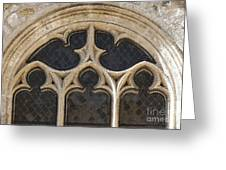 Medieval Church Window Ornaments Greeting Card