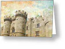 Medieval City Of Rhodes Greeting Card