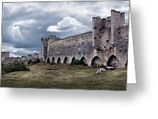Medieval City Wall Defence Greeting Card