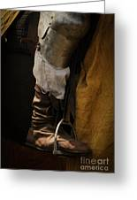 Medieval Faire Boot Detail 2 Greeting Card