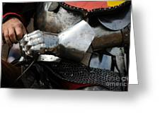Medieval Faire Ready To Ride Greeting Card