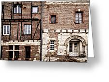 Medieval Houses In Albi France Greeting Card