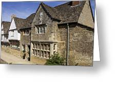 Medieval Houses In Lacock Village Greeting Card