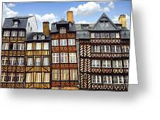 Medieval Houses In Rennes Greeting Card