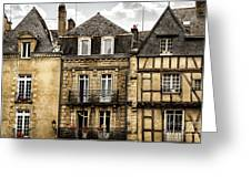 Medieval Houses In Vannes Greeting Card by Elena Elisseeva