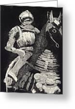 Medieval Knight On Horseback - Chevalier - Caballero - Cavaleiro - Fidalgo - Riddare -ridder -ritter Greeting Card