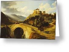 Medieval Landscape Greeting Card