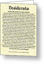 Medieval Provencal Desiderata Poster Greeting Card