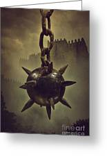 Medieval Spike Ball  Greeting Card