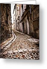 Medieval Street In France Greeting Card