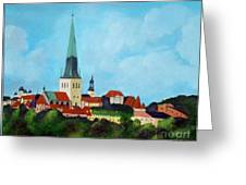 Medieval Tallinn Greeting Card