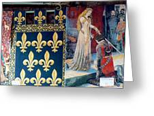Medieval Tapestry Greeting Card by France  Art