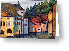 Medieval Village Of St. Ursanne Switzerland Greeting Card
