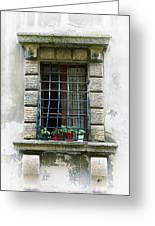 Medieval Window With Iron Grilles Greeting Card