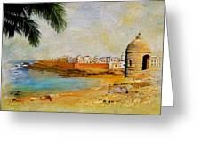 Medina Of Tetouan Greeting Card by Catf