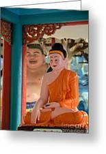 Meditating Buddha In Lotus Position Greeting Card