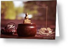 Meditating Buddha Statue Greeting Card