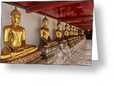 Meditating Buddhas Greeting Card