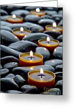 Meditation Candles Greeting Card by Olivier Le Queinec