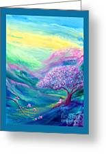 Meditation In Mauve Greeting Card by Jane Small