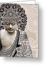 Meditation Mehndi - Paisley Buddha Artwork - Copyrighted Greeting Card