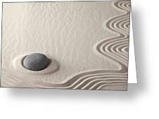 Meditation Stone Zen Rock Garden Greeting Card by Dirk Ercken