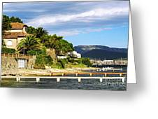 Mediterranean Coast Of French Riviera Greeting Card