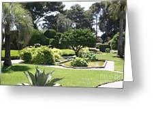 Mediterranean Garden - Cote D Azur Greeting Card