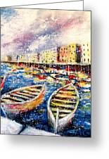 Mediterranean Port Colours Greeting Card