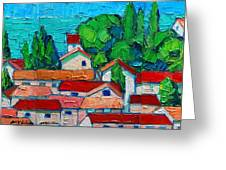Mediterranean Roofs 1 2 3 Greeting Card
